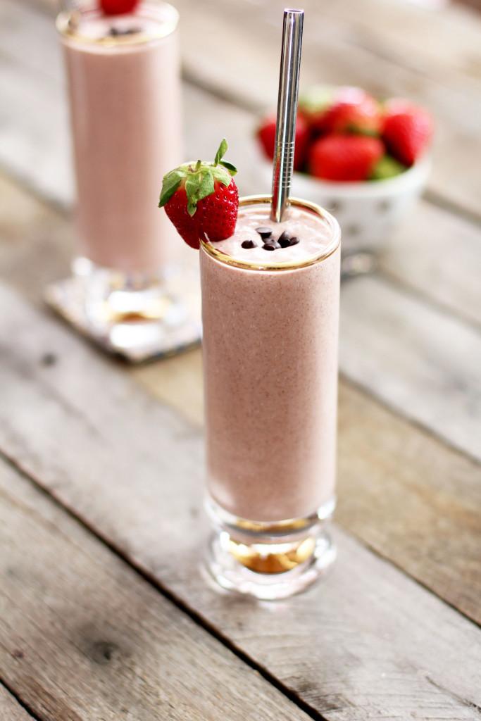 Strawberry Chocolate Chip Shake