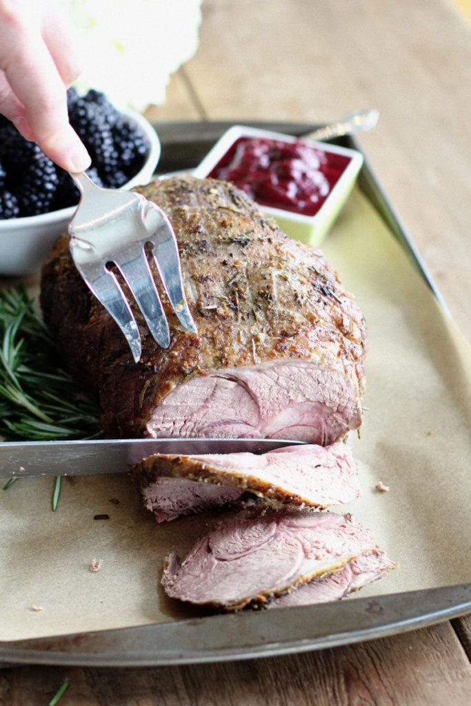 Roasted Leg of Lamb with Blackberry Chutney: Jessi's Kitchen