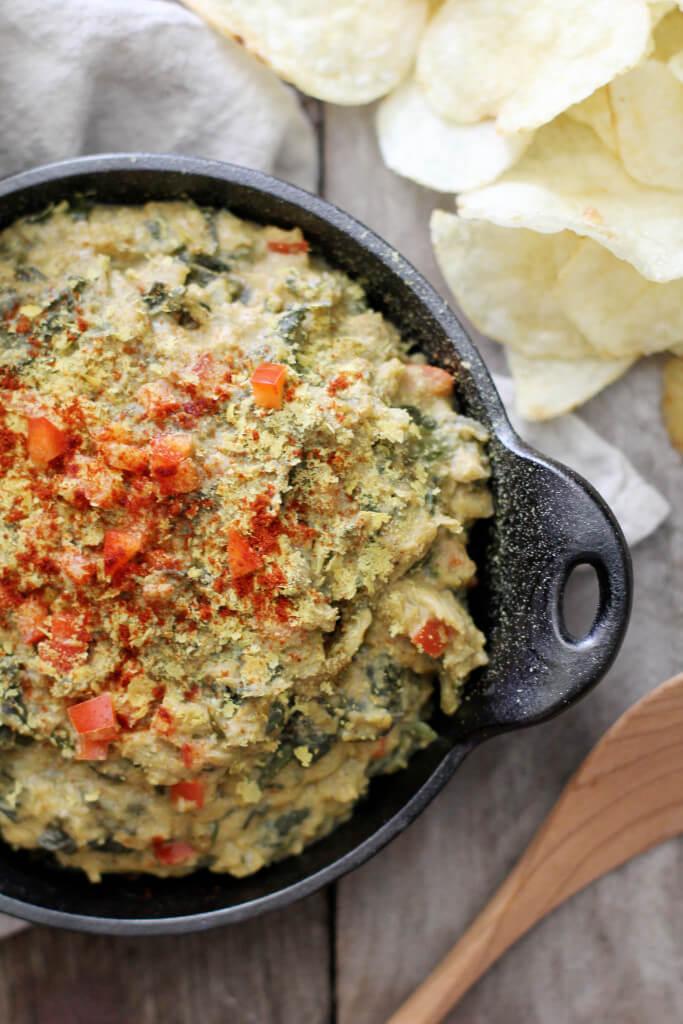 Dairy-free Creamy Spinach Artichoke Dip - Tailgating recipes: Jessi's Kitchen
