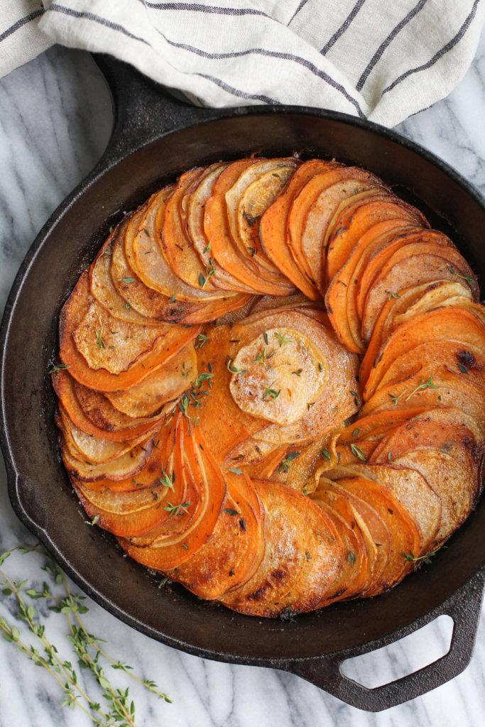 Herb Roasted Sweet Potato and Turnip Skillet: Jessi's Kitchen