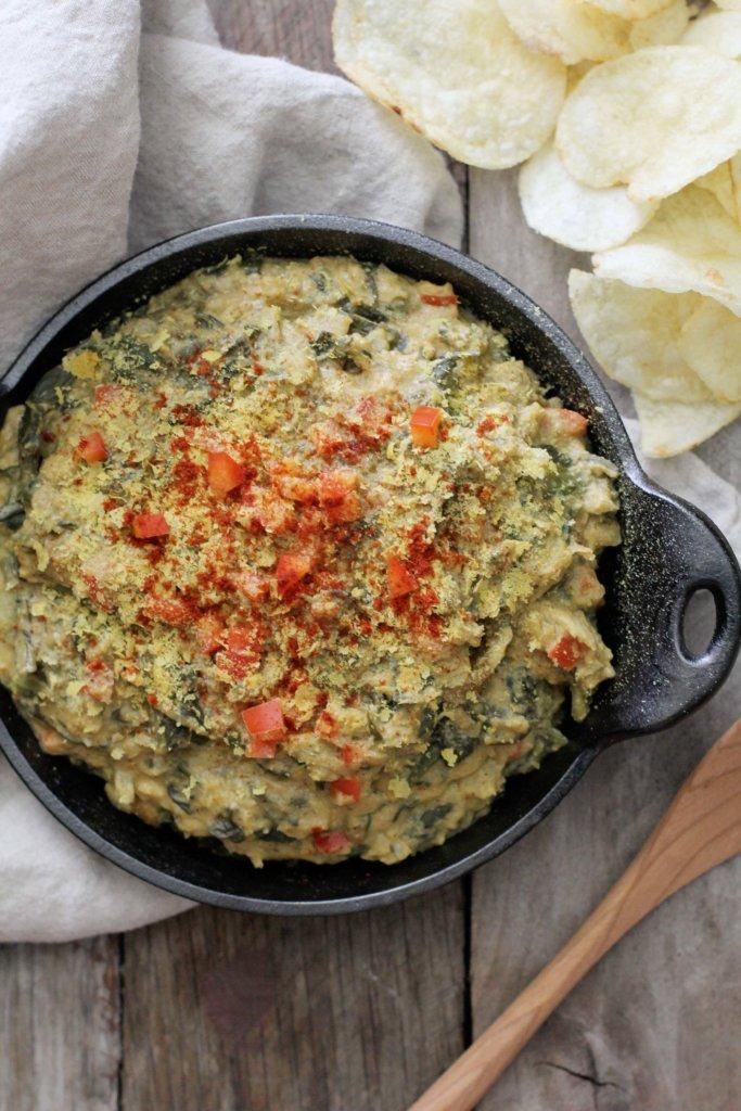 Dairy-free-spinach-artichoke-dip- Jessi's Kitchen