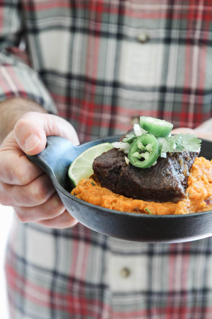 Beef Short Ribs with Chipotle Smashed Sweet Potatoes: Jessi's Kitchen