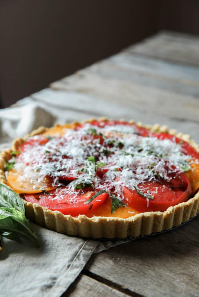 Gluten-free Goat Cheese and Tomato Tart: Jessi's Kitchen
