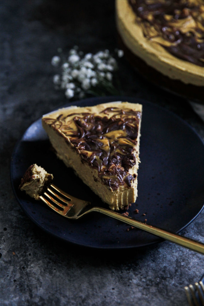 Vegan Pumpkin Chocolate Cheesecake: Jessi's Kitchen