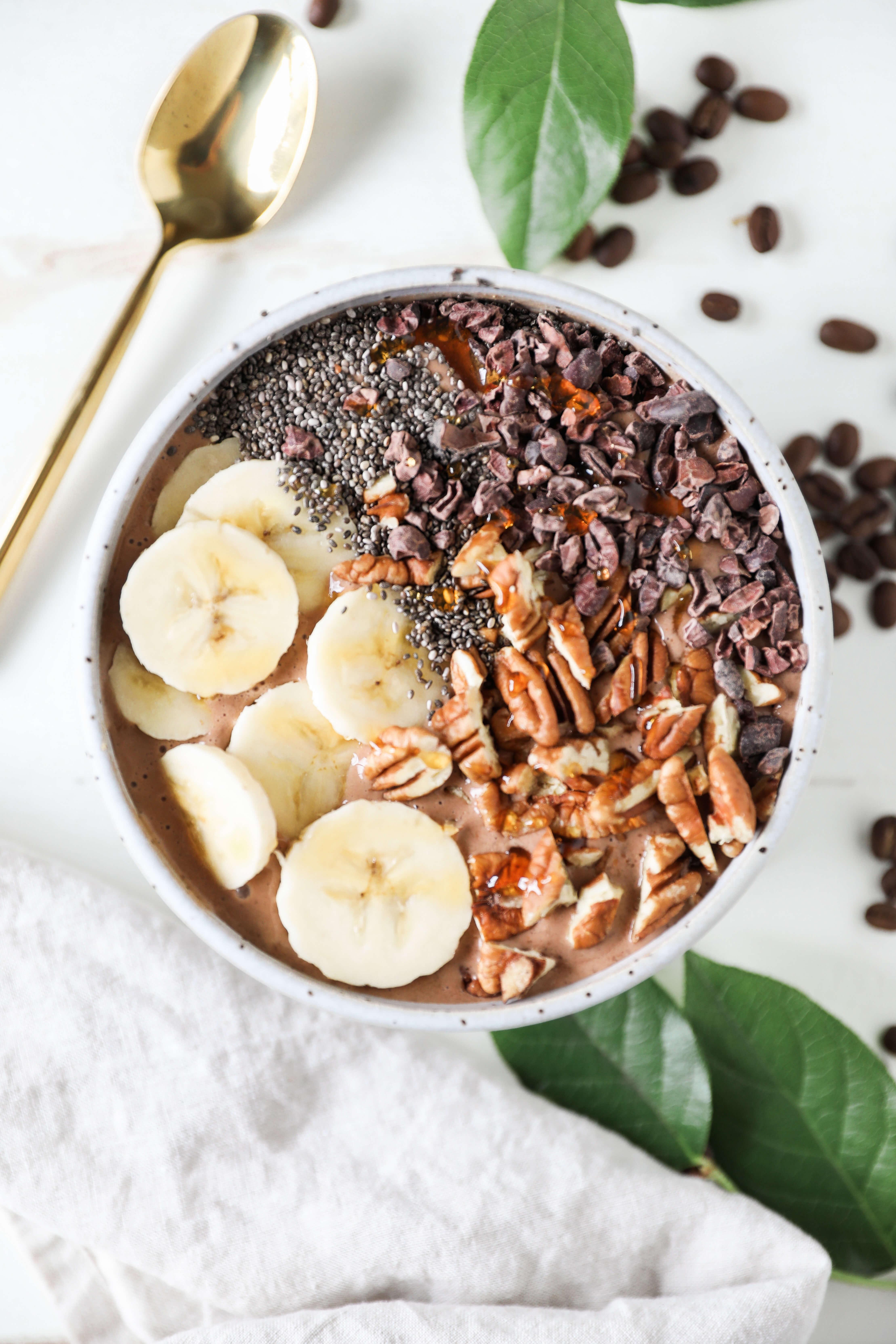 Peanut Butter Banana Mocha Smoothie Bowl Jessi S Kitchen