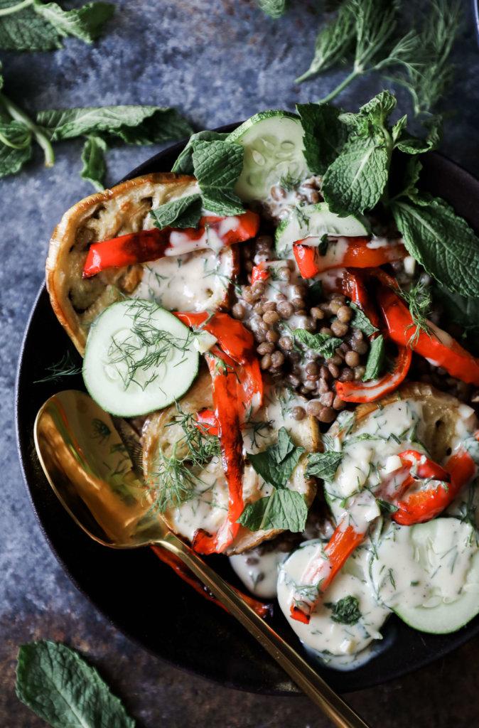 Meditteranean Lentil and Roasted Eggplant Salad: Jessi's Kitchen