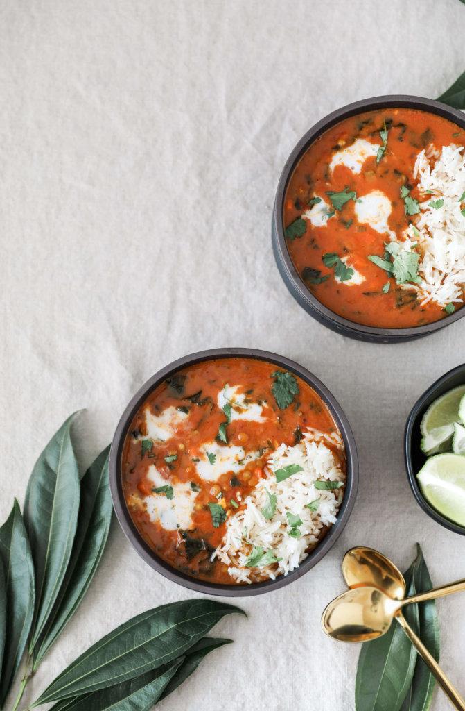 Vegan Curried Lentil Kale Stew: Jessi's Kitchen