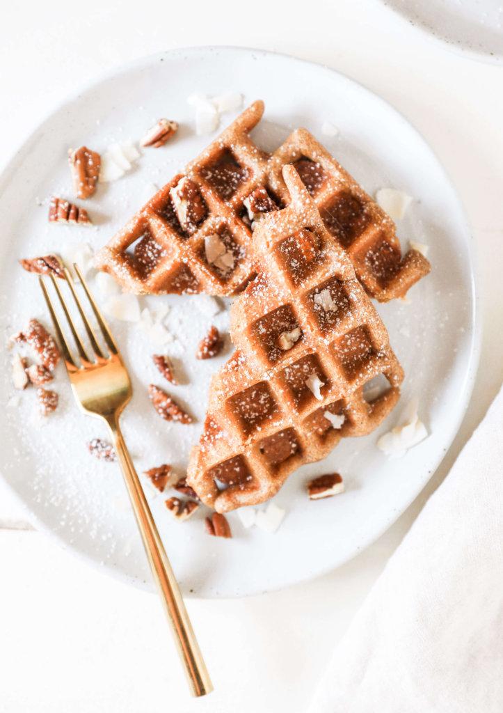 Gluten-free Carrot Cake Waffles