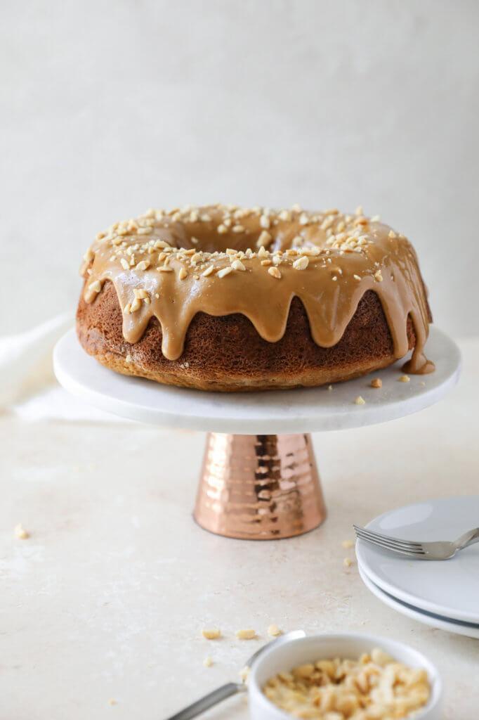 Sorghum Banana Cake with Peanut Butter Glaze: Jessi's Kitchen