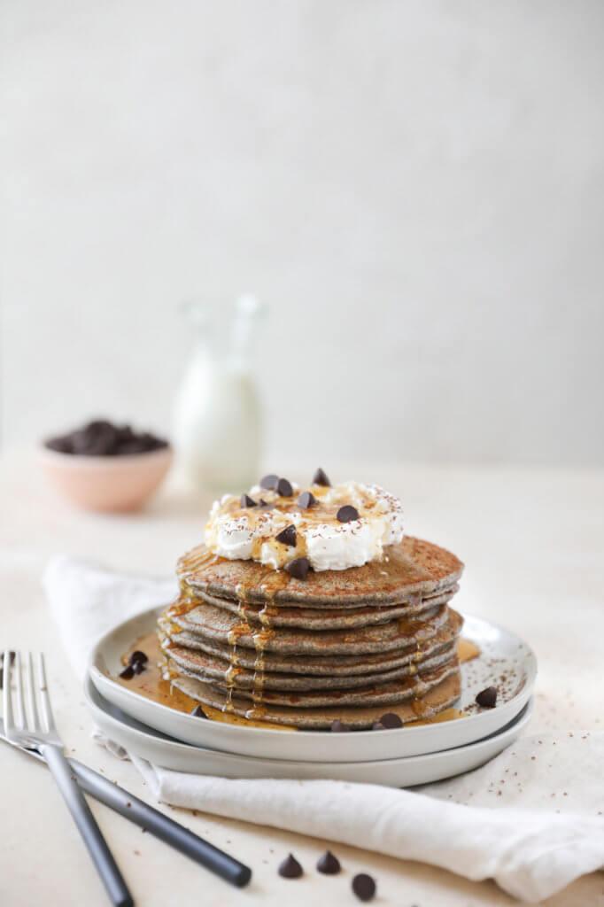 Chocolate Chip Buckwheat Pancakes: Jessi's Kitchen