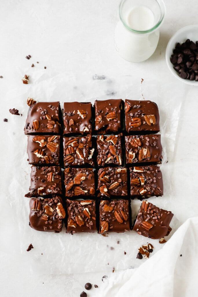 Fudgy Almond Flour Ganache Brownies: Jessi's Kitchen
